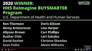 2020 Disruptive Tech Awards - DHHS
