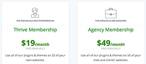 System Stream - Thrive Membership - pricing
