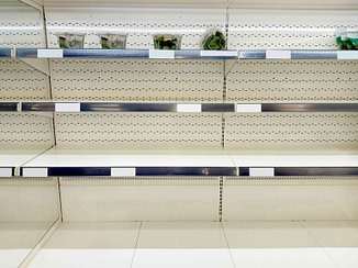 Best Survival Prepper - Empty shelf in grocery store